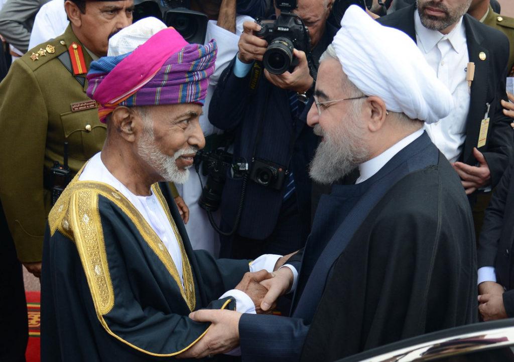 دیدار سلطان قابوس با روحانی